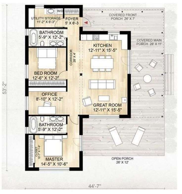 14 best house plans images on pinterest small houses for Planos para casas de un piso