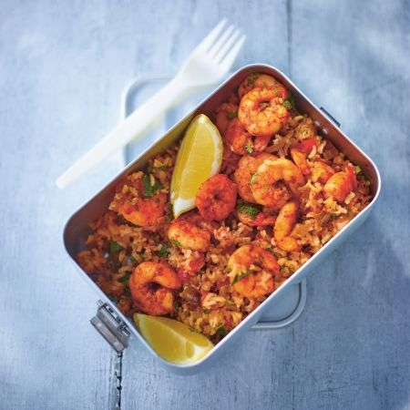 Lorraine Pascale's Cumin-Spiced Prawn Rice Salad - you won't be able to wait until lunchtime! www.redonline.co.uk
