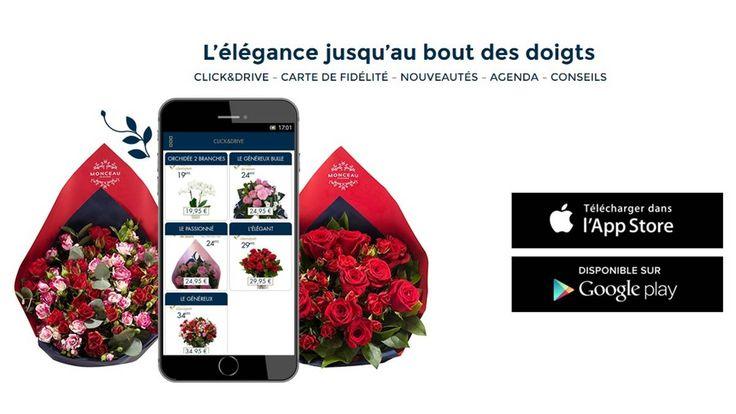 L'élégance pour le très féminin site internet de Monceau Fleurs