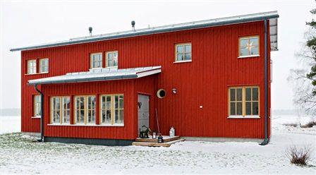 Fasad falurött hus