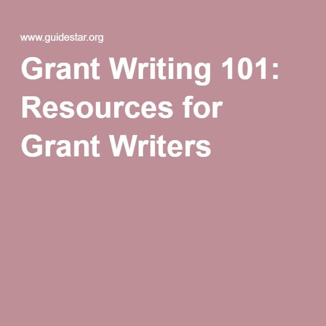 Grant Writing 101: Resources for Grant Writers