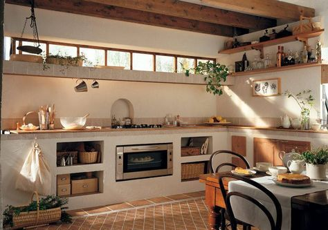 Cucine In Muratura 70 Idee Per Progettare Una Cucina Costruita Su Misura Cucina In Muratura Arredo Interni Cucina Progetti Di Cucine