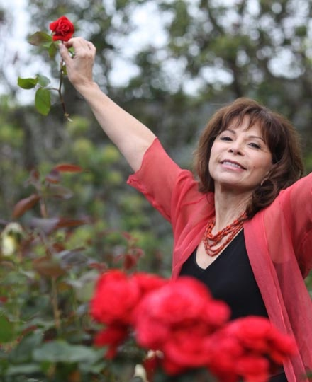 She is Isabel Allende, a great chilean writer. Her stories are about strenght and passion. Her characters are always women that never give up.