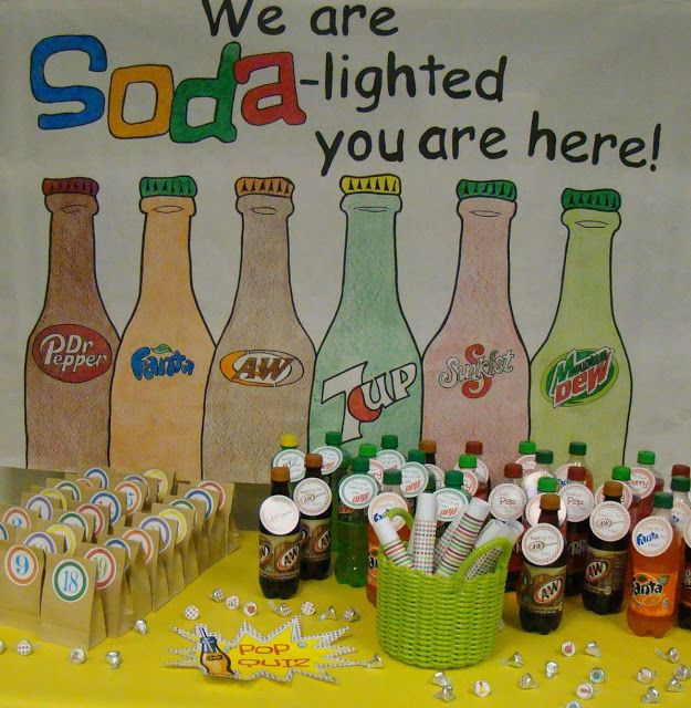 Middle School Wecome Back! Grab their attention with a soda pop theme!