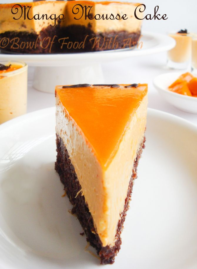 I did mango mousse some days back and since then I was waiting to make this cake. I was waiting ...