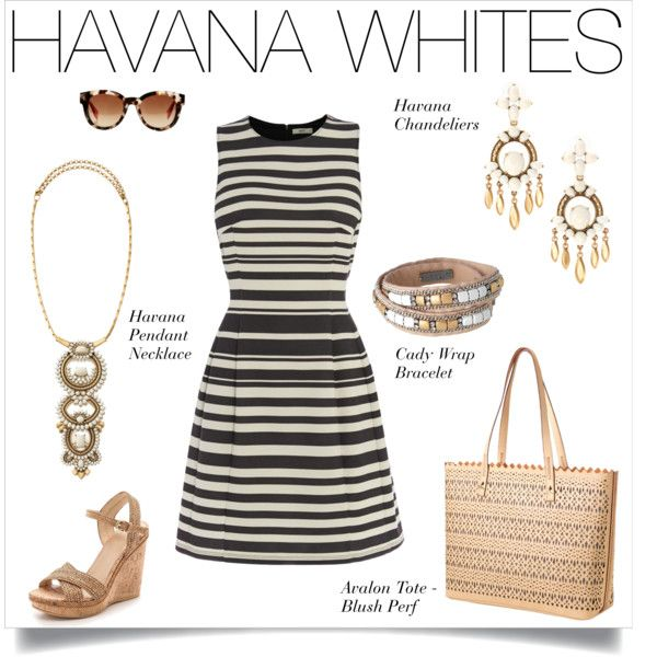 Havana Whites are calling your name with this ponte dress, wedge heel shoes paired with jewelry & handbags from Stella & Dot. www.stelladot.co.uk/lyndseywatson