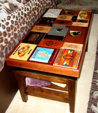 Cigar box coffee table eclectic coffee tables