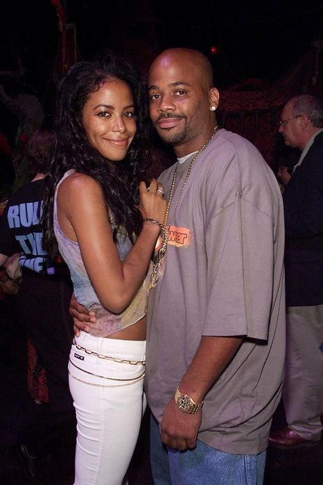 Aaliyah and Damon Dash