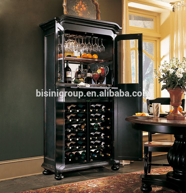 French Style Refrigerated Wine Cabinet Wine Cabinet Furniture For Wine  Storage Part 97