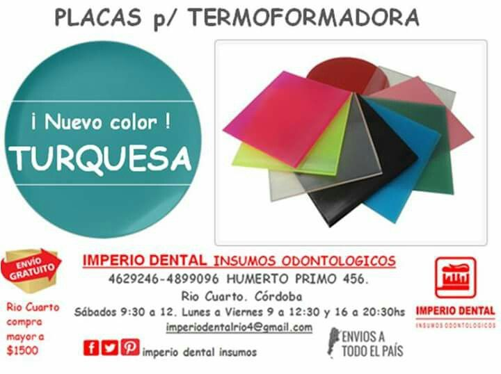 Placa termoformado dental