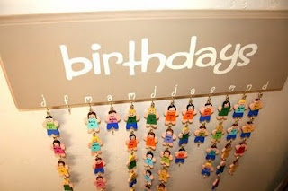 A cute way to remember students birthdays!