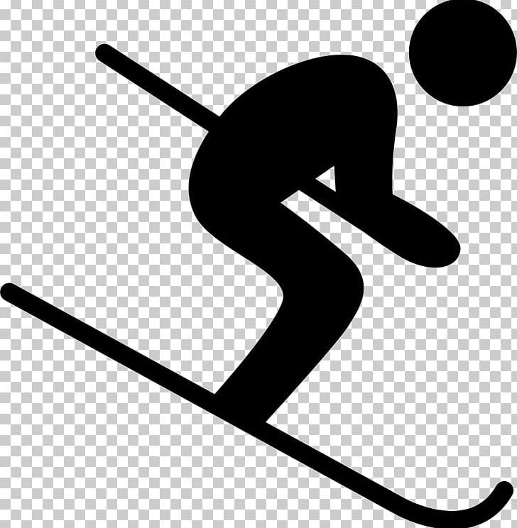 Skiing Computer Icons Sports Png Area Artwork Black Black And White Computer Icons Computer Icon Clip Art Skiing