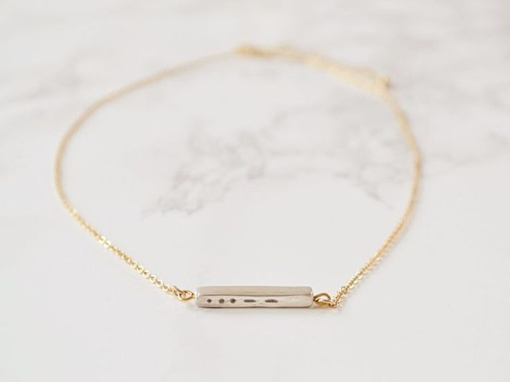 DIY tutorial: Make a Morse Code Clay Necklace via en.DaWanda.com