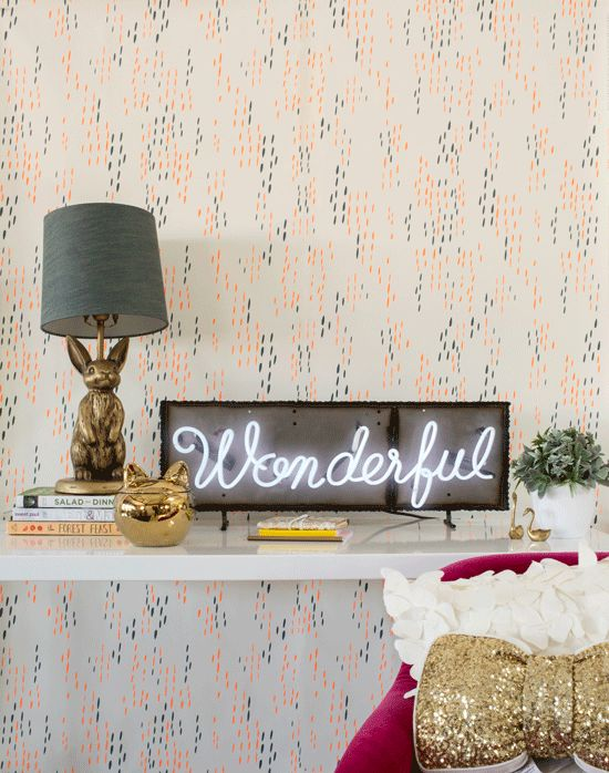 Emily & Meritt for PB Teen used to style an entry way #lettering #lettere