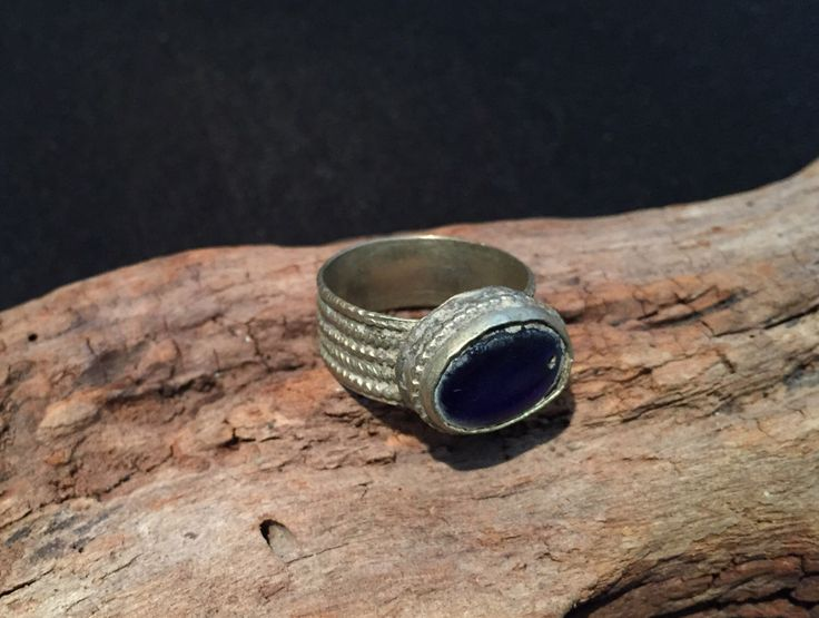 Vintage Ring-Kochi Tribe old Ring-Old glass-tribal Jewellery-  Ring-vintage Afghanistan Tribal Jewelery Ethnic-Bohemian Ring-Nomadic Ring by JewelsofNomads on Etsy https://www.etsy.com/listing/254932940/vintage-ring-kochi-tribe-old-ring-old