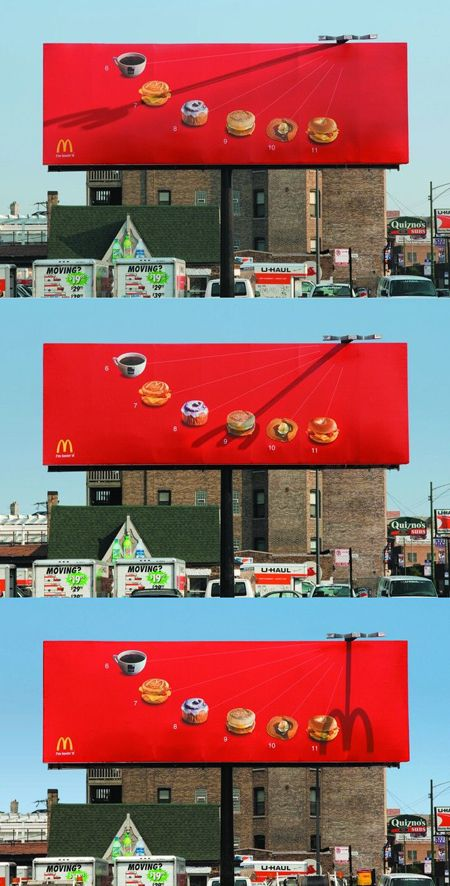 McDonald's billboard....with you every time
