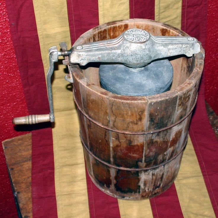 Old ice cream churner like Saleh would have used.
