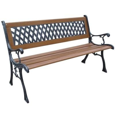 Parkland Heritage Mesh Resin Patio Park Bench