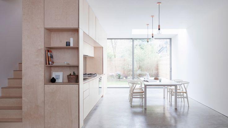 CH24 Wishbone chair - Hans Wegner - Carl Hansen & Son. Larissa Johnston arranges minimal London home around plywood box
