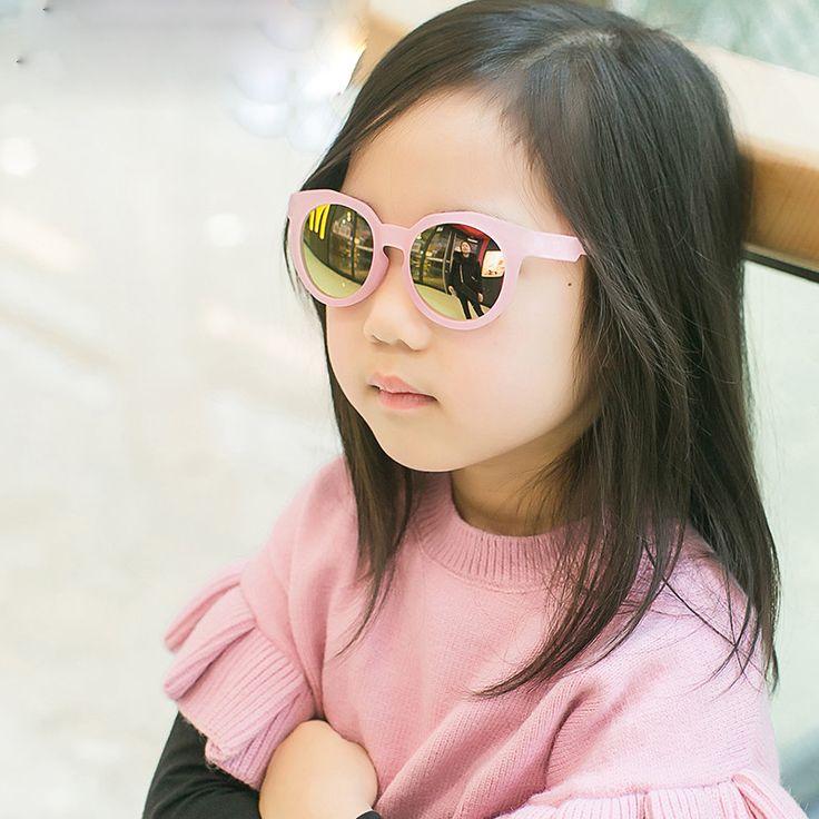 >> Click to Buy << New 2017 Round Kids Sunglasses Boys Baby Mirror Sunglasses Pink Yellow Girls Glasses Sun Glasses For Children Gafas De Sol Ninos #Affiliate