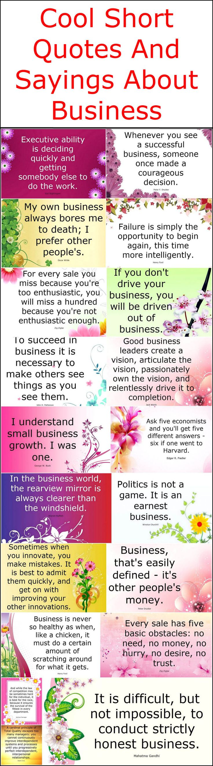 Here we came up with some amazing as well as cool business quotes for you. These short quotes will definitely increase your information and at the same time, these will assist you that how to drive your business properly. These short sayings about business will reveal the basic term about how to perform your business tasks honestly.