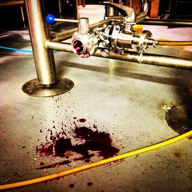"""Our dear friend, talented poet & musician, & ShakesBEERience uber-fan John-Michael Albert thought of this pairing: Throwback Brewery's Just Beat (W)It & well, all of MACBETH. Our pals at Throwback Brewery posted this shot of how their brewery looked when making the fuchsia-colored beer made with local heirloom beets. """"What a perfect pairing for The Scottish Play!"""" said Mike. Seeing this pic & knowing the play uses the word """"blood"""" over 40 times?- we gotta say, we think you're spot on, Mike!"""