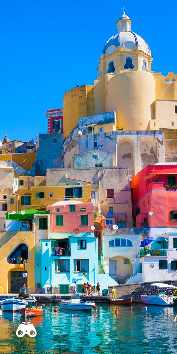 Off the coast of #Naples exists a colourful paradise waiting to be explored, #Procida. One of the #FlegreanIslands, explore it with a shore excursion on your very own #luxury private boat. Find out more about our Naples Cruises here.  #CelebrityCruises #modernluxury #travel #Italy #Europe