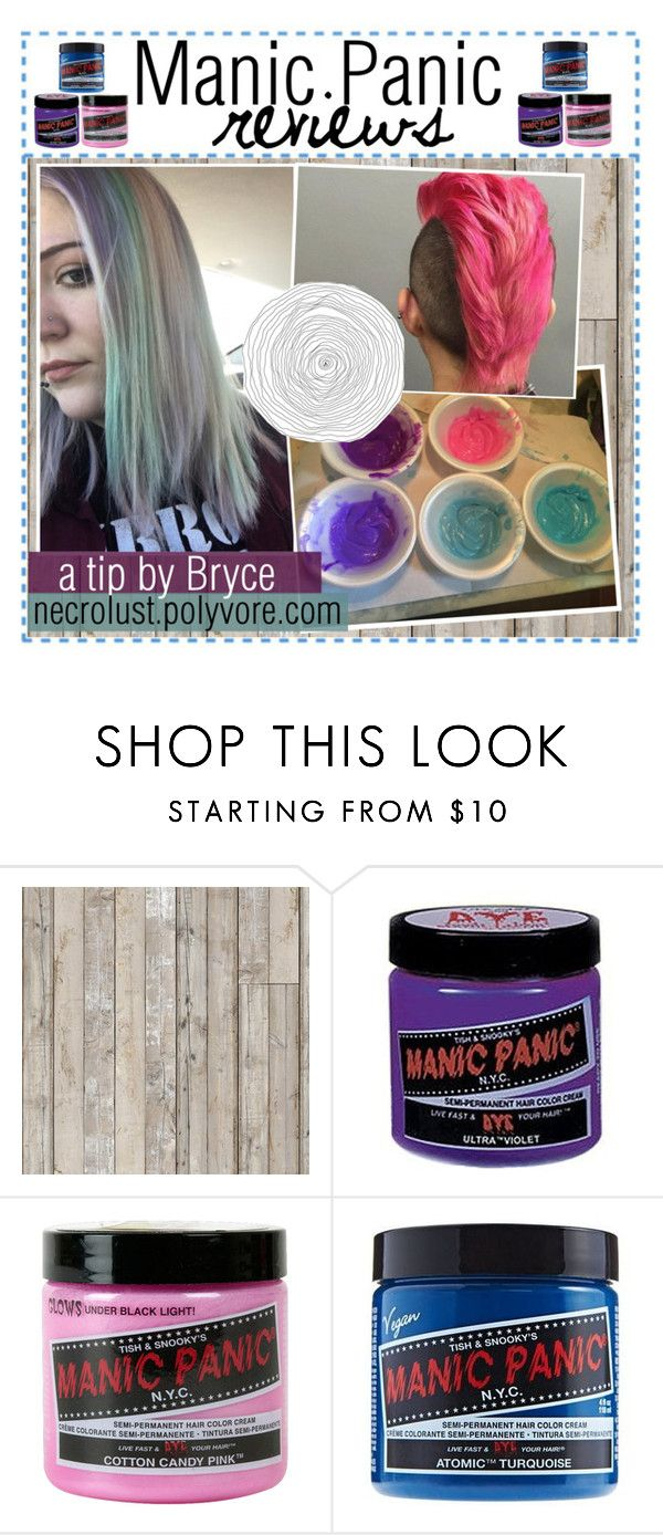 """Manic Panic reviews"" by ocean-waves-tips ❤ liked on Polyvore featuring beauty, Piet Hein Eek, Manic Panic NYC and tipsbybryce"