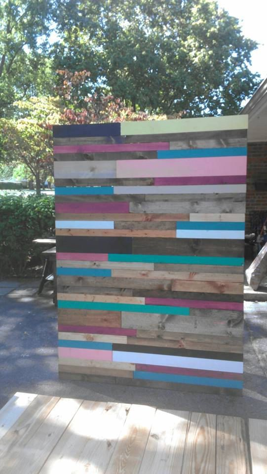 Beautiful Reclaimed Pallet Barn Wood 3-FT x 5-FT WALL Home Decor Art Collage Backdrop By Unique Primtiques Custom Sizes