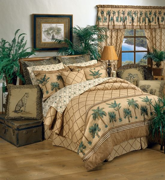 Palm Tree Themed Bedrooms Displaying 12 Gallery Images For Blue And Brown Bedding