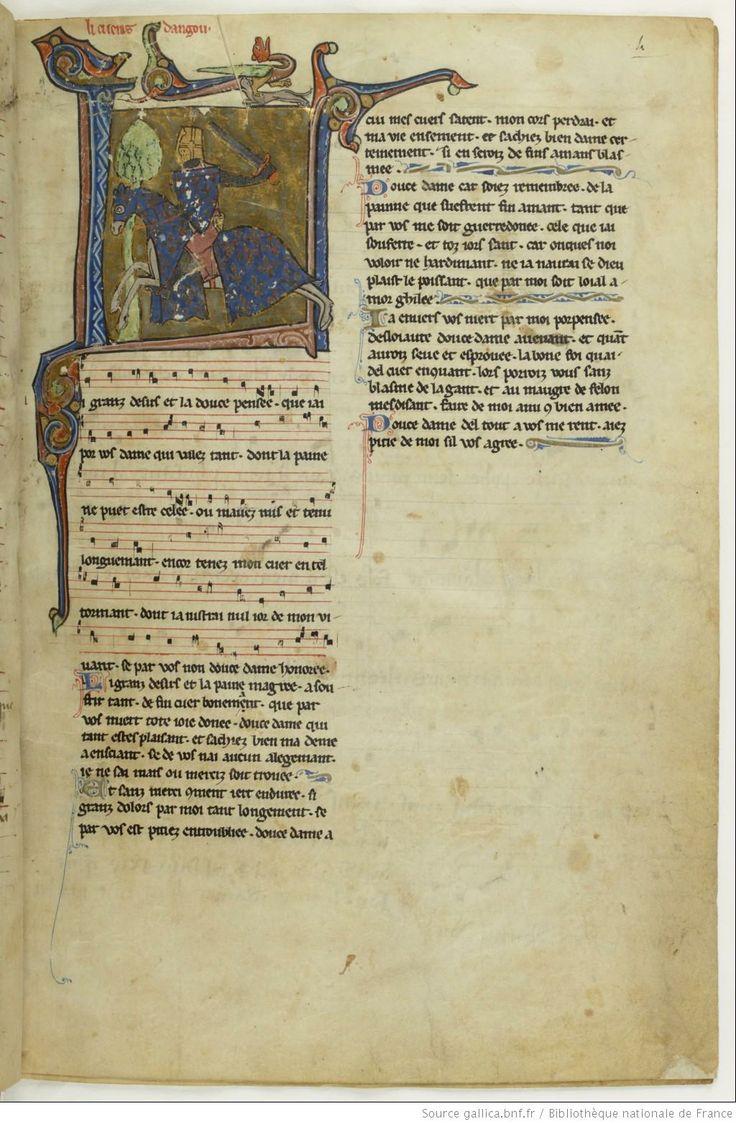 Chansonnier du Roy, 13th c. (Français 844)