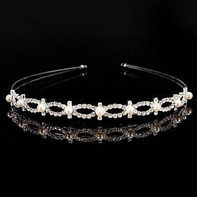 Tiara bloemenmeisje ~ legering bruids hoofdbanden / tiara met strass – EUR € 8.59