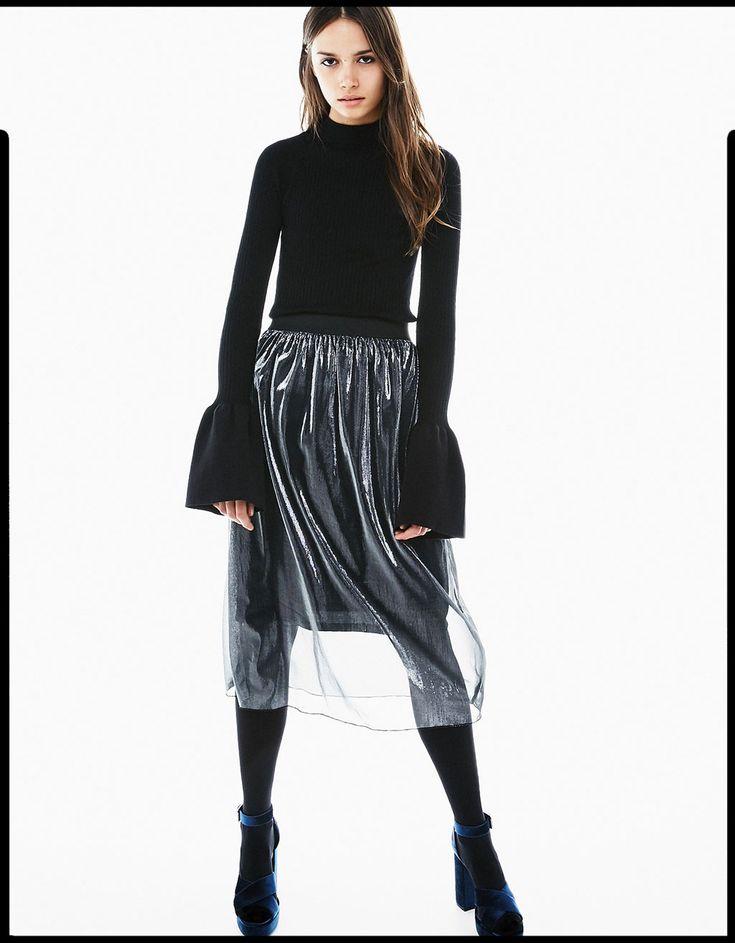 Прозрачная юбка из тюля - Пайетки & Блестящие Образы - Bershka Russia