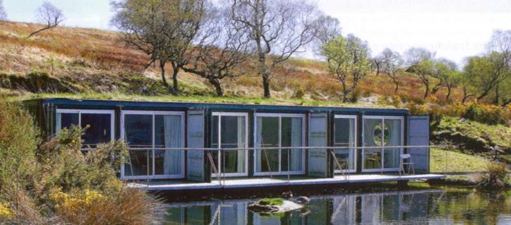Casa container in london build in lakeside with large - Casa container prezzo ...