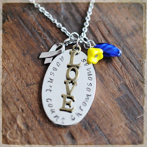 Down Syndrome Necklace  Love doesn't count by rubiesandwhimsy, $31.00