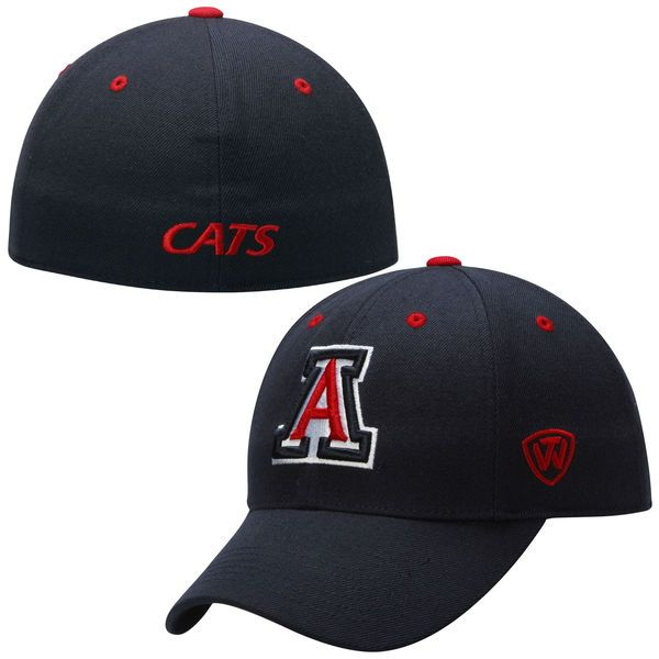 Top of the World Arizona Wildcats Navy Blue Dynasty Memory Fit Fitted Hat, $24.95 http://shareasale.com/m-pr.cfm?merchantid=45646&userid=646297&productid=561962427&afftrack=