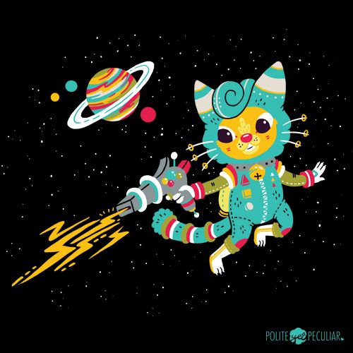 Kitty Cat Space Captain - by Polite Yet Peculiar