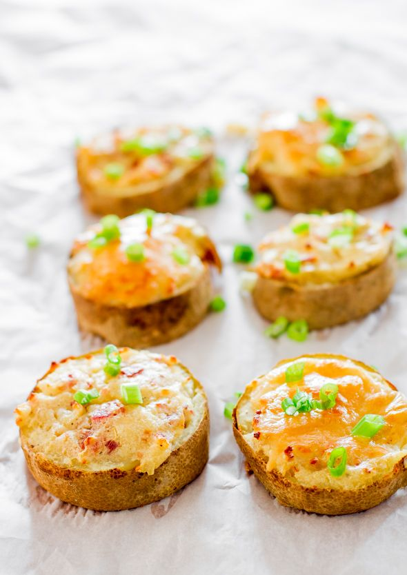 Twice Baked Potato Slices ~ So good... They're perfect little appetizers