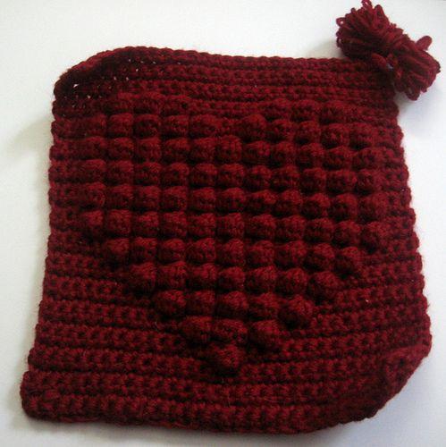 Full Heart Bobble Square - free crochet pattern by Laura Zalesak