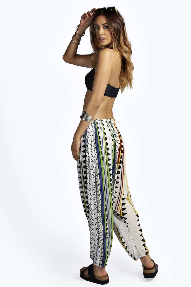 Maisie Mixed Print Hareem Trousers