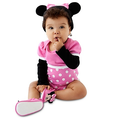 Personalizable Minnie Mouse Costume Bodysuit and Cap for Baby Girls: Mouse Costumes, Disney Cudd, Cudd Bodysuit, Bodysuit Sets, Halloween Costumes, Disney Trips, Minnie Mouse, Costumes Bodysuit, Disney Baby