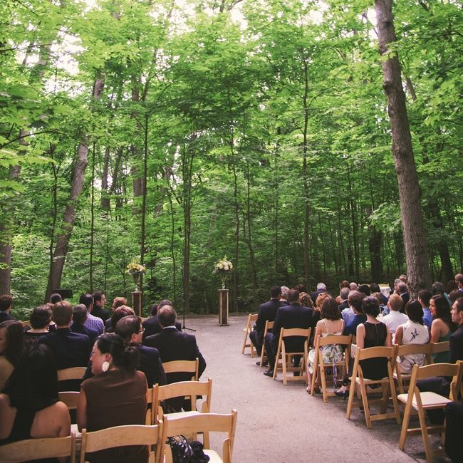 Outdoor Rustic Ceremony // photo by: Nikki Mills // http://www.theknot.com/weddings/album/outdoor-rustic-wedding-in-woodbridge-ontario-141163