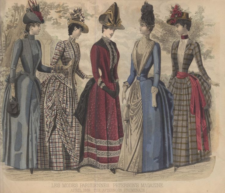 Late Victorian Era Clothing: Late Victorian Era Fashion Plate - April 1889 Peterson's Magazine
