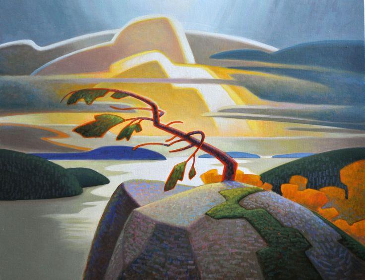Terry Watkinson, 'Windswept Pine' at Mayberry Fine Art 24 x 30 (2013)