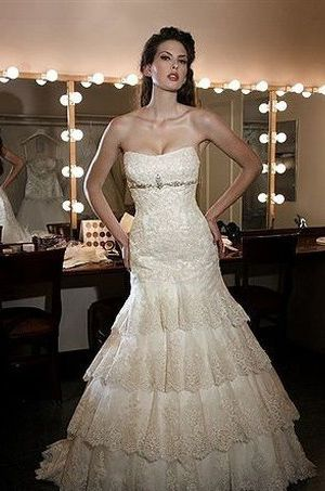 Bridal Gowns Perla D By Pnina Tornai A Line Wedding Dress