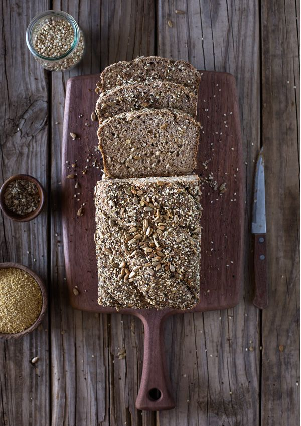 A foolproof gluten-free and vegan breakfast bread recipe made with millet, buckwheat groats, and psyllium husk.