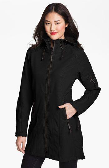Women's Ilse Jacobsen Rain 7 Hooded Water Resistant Coat