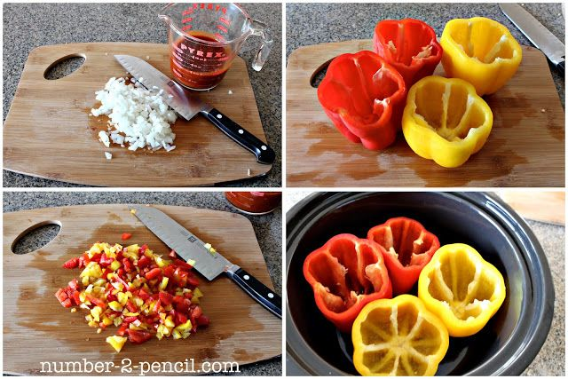 Crock Pot Mexican Stuffed Bell Peppers | Mexicans, Crock Pot and Le ...