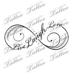 Live Laugh Love infinity tattoo   Third #182699   CreateMyTattoo.com