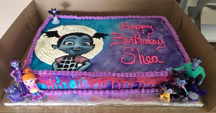 Vampirina buttercream cake | Birthday party shirt, Kids ...